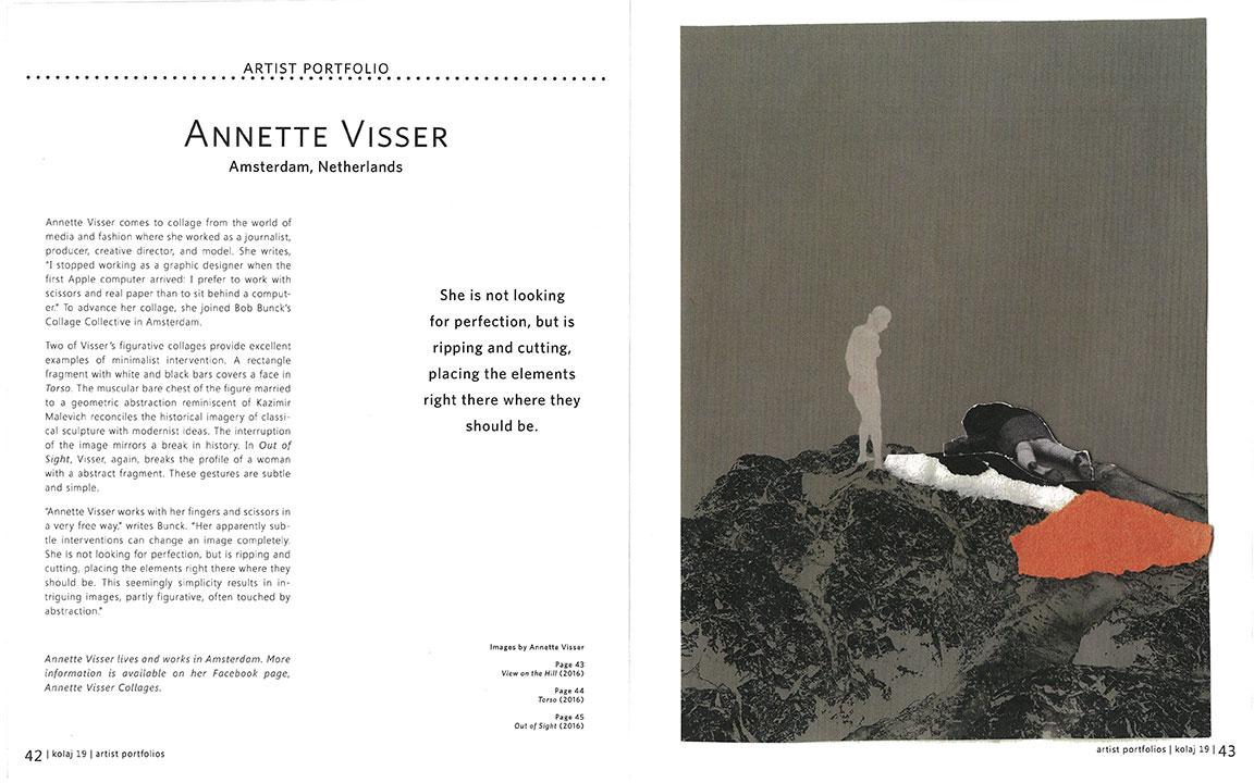 Article in Kolaj magazine Annette Visser
